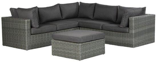 garden impressions silverbird lounge set 4 delig earl grey donker antraciet. Black Bedroom Furniture Sets. Home Design Ideas