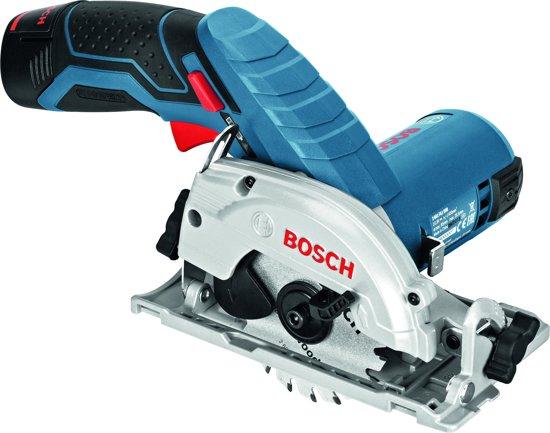Bosch Professional GKS 10,8 V-LI Accu cirkelzaag - 26,5 mm zaagdiepte - Met 2 x 2,5 Ah accu's, lader en L-BOXX