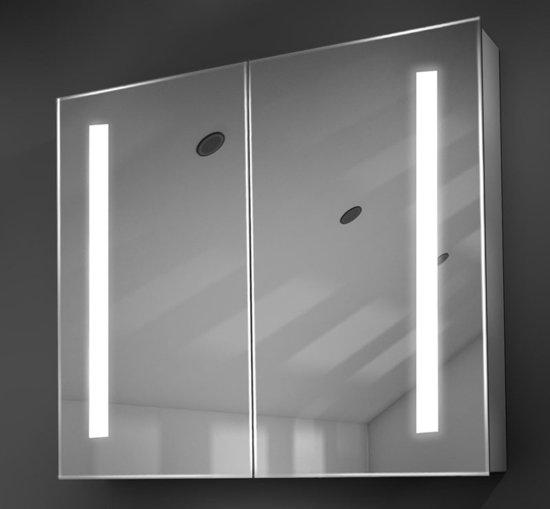 100 cm brede spiegelkast met verlichting verwarming en scheerstopcontact