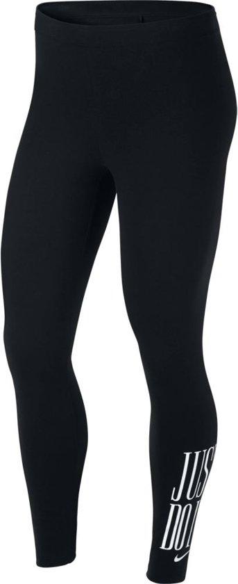 Nike W NSW Legging Club JDI Sportlegging Dames - Black/White