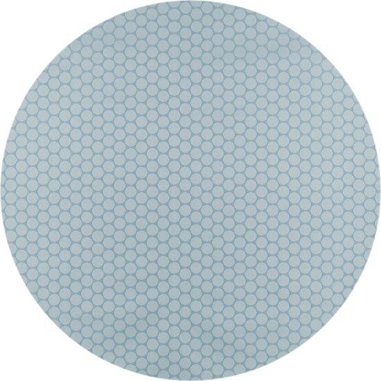 MixMamas Rond Tafelkleed Gecoat - Ø 160 cm - Stippen - ton-sur-ton - Oceaan Groen