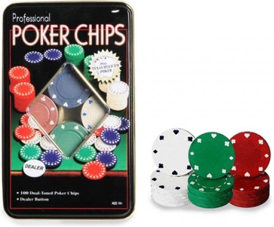 Afbeelding van het spel Poker Chips - 100 Stuks
