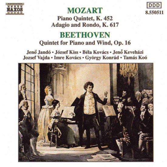 Mozart, Beethoven: Piano Quintets, etc / Jando, et al