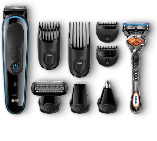 Braun MGK3085 Multi Grooming Kit 9-in-1 met Gillette Fusion ProGlide Scheermes - Multigroomer