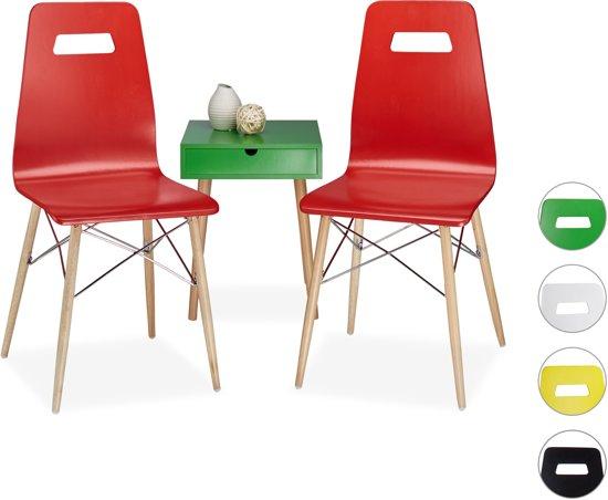 bol.com | relaxdays - design stoel 2 stuks - eetkamerstoel - moderne ...
