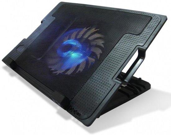 Professionele Notebook Cooling Pad   1 Grote Stille Cooler/ Koeler Fan   laptopstandaard   Ventilator   Laptop Koeler  Notebookstandaard   Pad voor 11 tot 17 inch laptops - Zwart