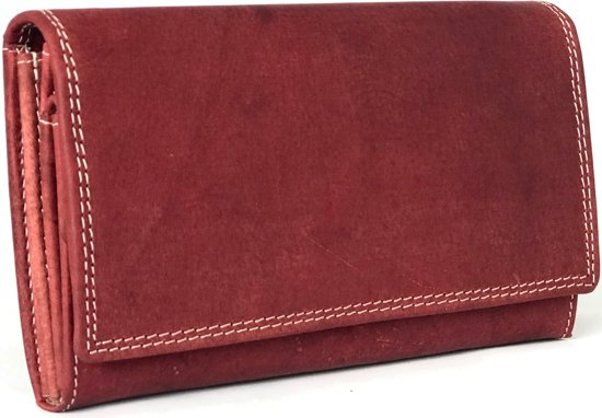 Vintage Portemonnee Dames.Lundholm Luxe Leren Portemonnee Dames Leer Rood Overslag Harmonica Model Vintage Rood