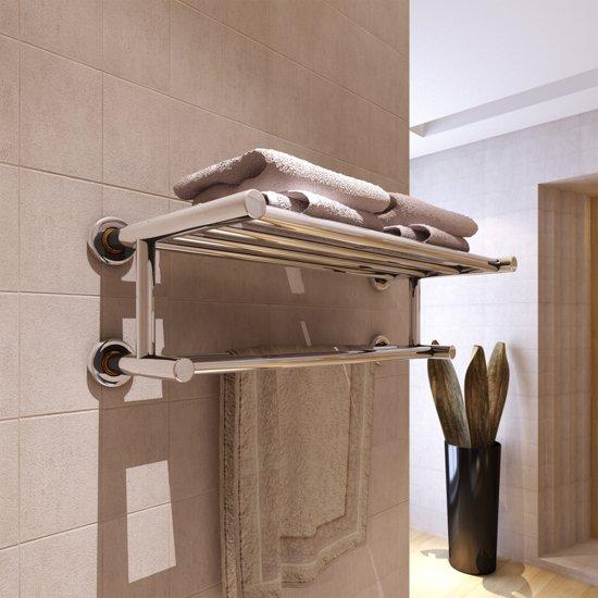bol.com | vidaXL Handdoekenrek met 6 roedes roestvrij staal