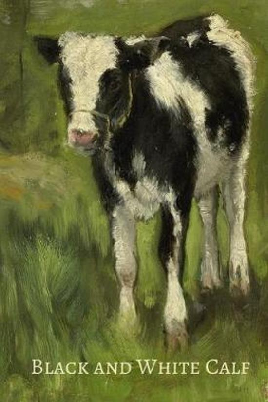 Black and White Calf: Beautiful vintage art of a friesian calf (Dairy breed) journal/Notebook/Diary to write in, draw in or doodle in. Will