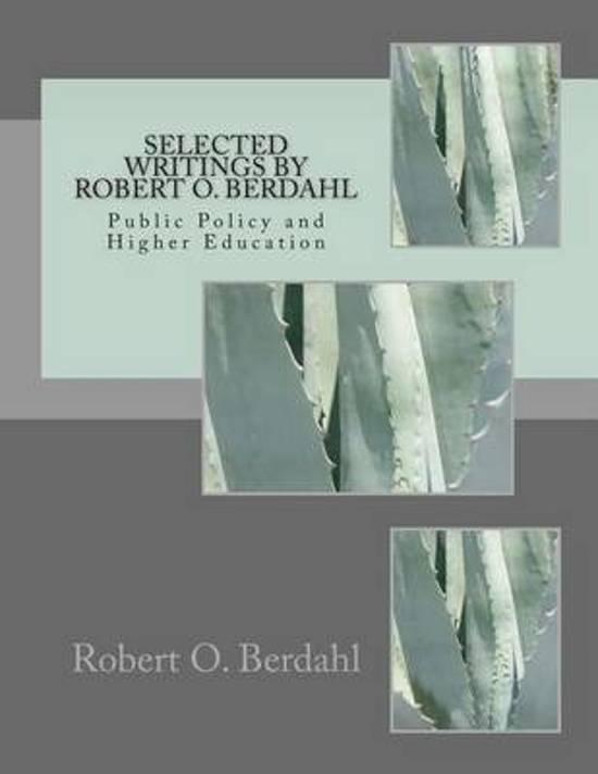 Selected Writings by Robert O. Berdahl