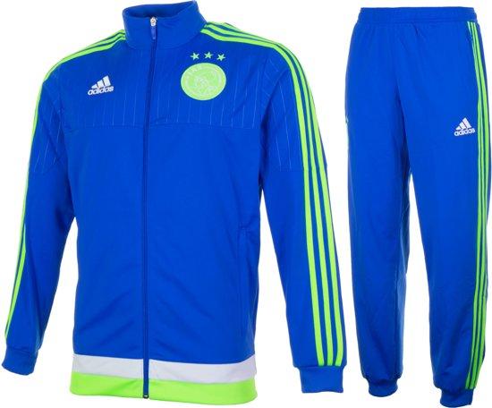 adidas Ajax Trainingspak  Trainingspak - Maat S  - Mannen - blauw/groen/wit