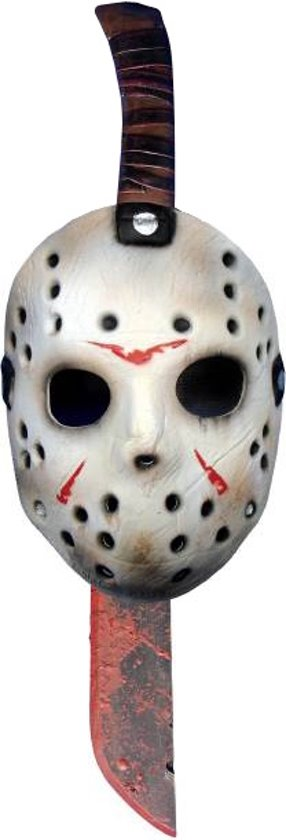 Machete en masker van Jason uit Friday the 13th™ - Verkleedattribuut