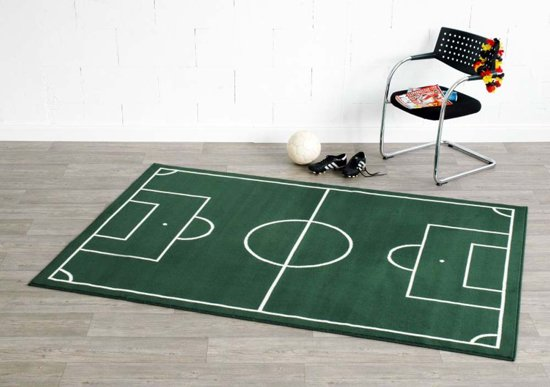 Onwijs bol.com | Voetbalveld vloerkleed - groen/crème 120x170 cm ED-12