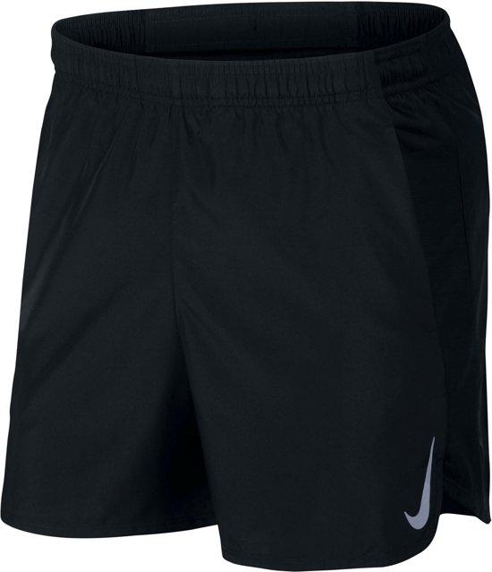 Nike M Nk Chllgr Short 5In Bf Sportbroek Heren - Black/Black/(Reflective Silv)