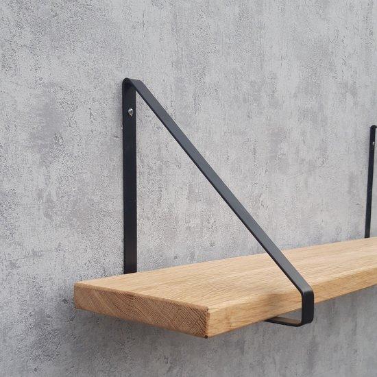 Betere bol.com | wandplank,boekenplank eiken met metalen schapdragers DH-67