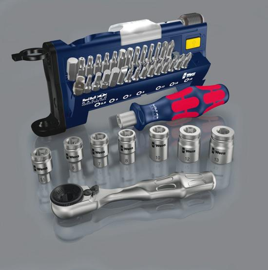 Wera Red Bull Racing – Dopsleutelset – Tool Check Plus – 38 delig