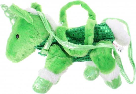 Toi-toys Handtas Unicorn Pluche 2 Liter Groen