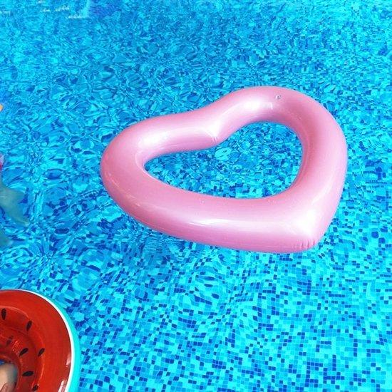 Opblaasfiguren - Inflatables Opblaasbaar Hartje - Roze (120 x 100 cm)