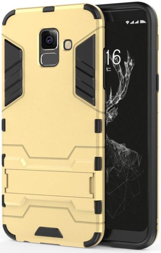 Samsung Galaxy A6 Hybride Stand Hoesje Goud