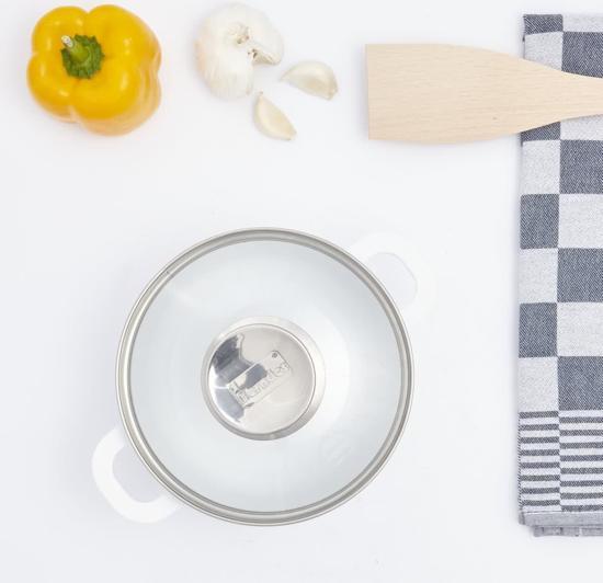 Berndes Vario Click Induction Wit Kookpot met Glazen Deksel 16 cm