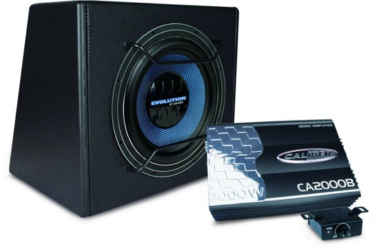 caliber pack10e auto subwoofer met versterker 750 watt. Black Bedroom Furniture Sets. Home Design Ideas