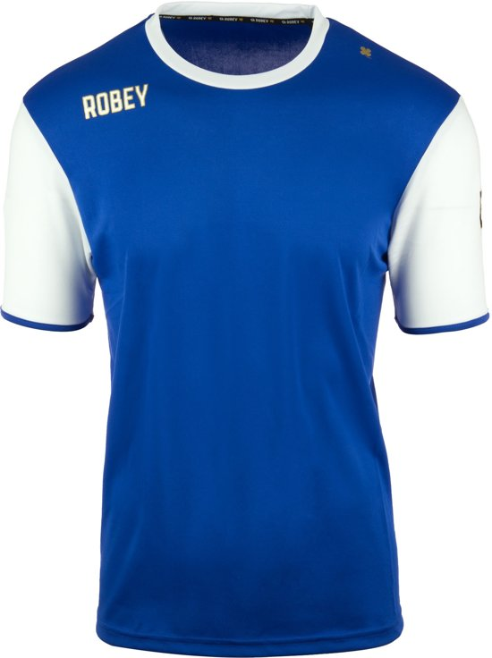Robey Shirt Icon - Voetbalshirt - Royal Blue/White Sleeve - Maat XXXL
