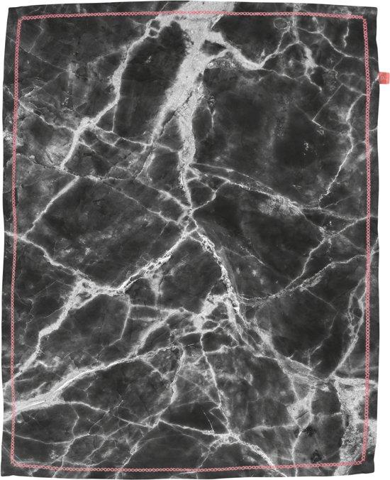 Present Time, Marble - Theedoek - 50x70 cm - Katoen - Zwart