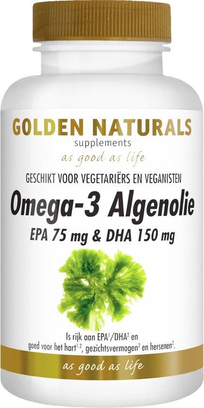 Golden Naturals Omega-3 Algenolie (60 liquid capsules)