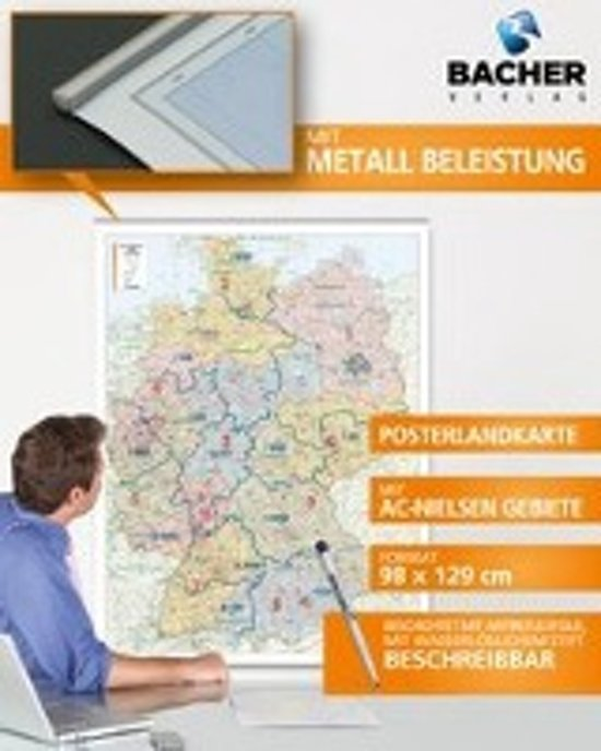Deutschland PLZ 1:700.000 Posterkarte