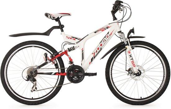 Ks Cycling Fiets 26 inch mountainbike, fully-ATB Zodiac met 21 versnellingen wit - 48 cm