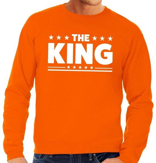 Oranje The King vlag sweater heren XL