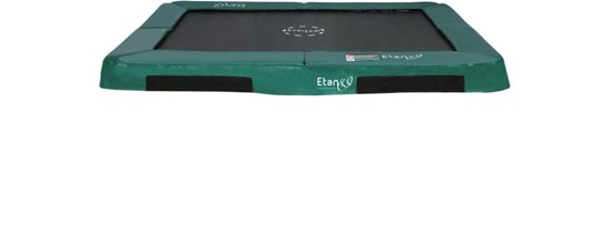 Etan Inground Hi-Flyer Trampoline 310 x 232 cm - Groen - Rechthoekig - Zeer veilig - Hoog springcomfort
