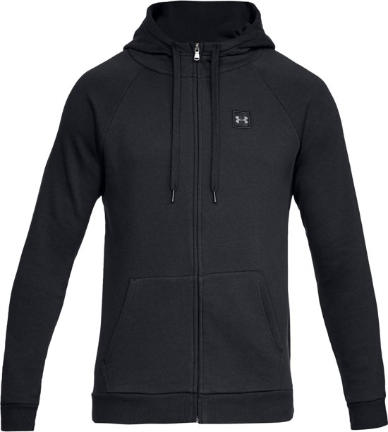 Under Armour Rival Fleece FZ Hoodie Heren Sportvest - Zwart - Maat L