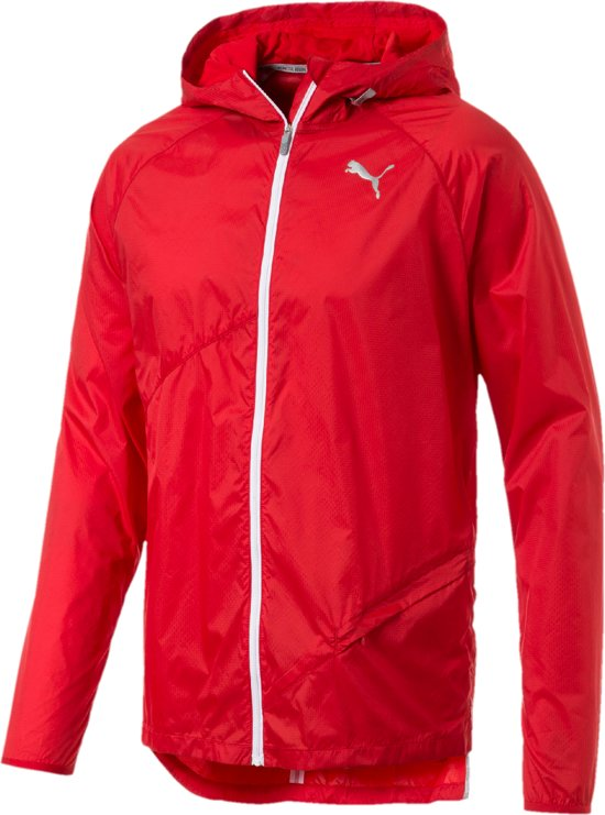 PUMA Lightweight Hooded Jacket Sportjas Heren - High Risk Red