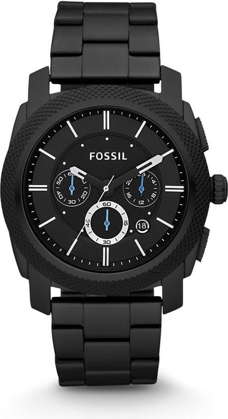 Fossil FS4552 - Horloge - 45 mm - Zwart