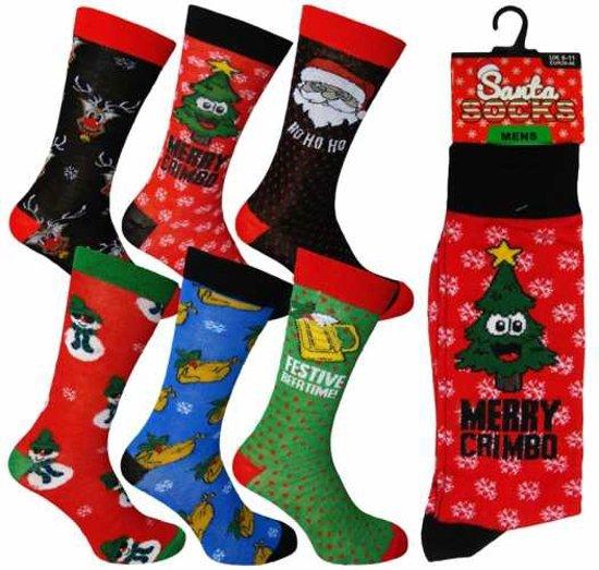 25effe39524 bol.com | 6 paar heren kerst sokken - set leuke kerstsokken - maat 39-46