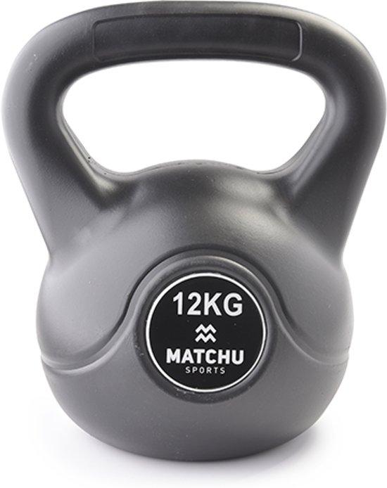 Matchu Sports - Kettlebell - 12 kg - Zwart