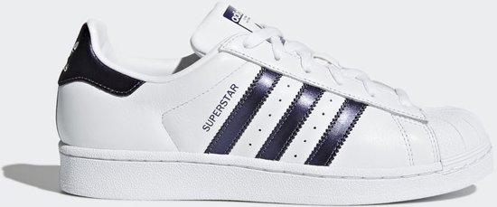 c5c86eb74bd bol.com | adidas Superstar Sneakers Dames - White/Purple - Maat 38 2/3