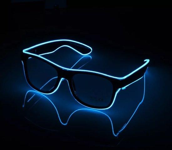 5e160d6a0b6d07 Lichtgevende LED Zonnebril Blauw