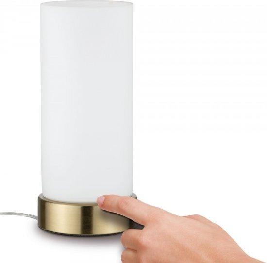 Paulmann Pinja Tafellamp Met Touchschakelaar LED Opaal