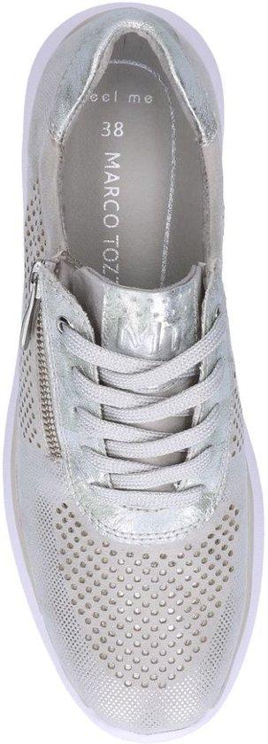 Zilveren Rits/veterschoenen Marco Tozzi