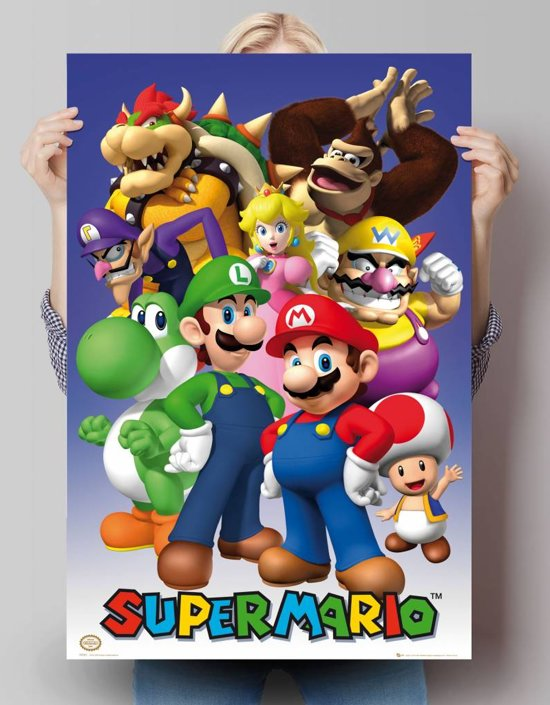 Reinders Poster Nintendo - all stars - Poster - 61 × 91,5 cm - no. 20717
