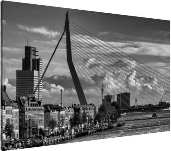 bol.com : Canvas schilderij (85 x 55 cm) Erasmusbrug u0026 Noordereiland ...