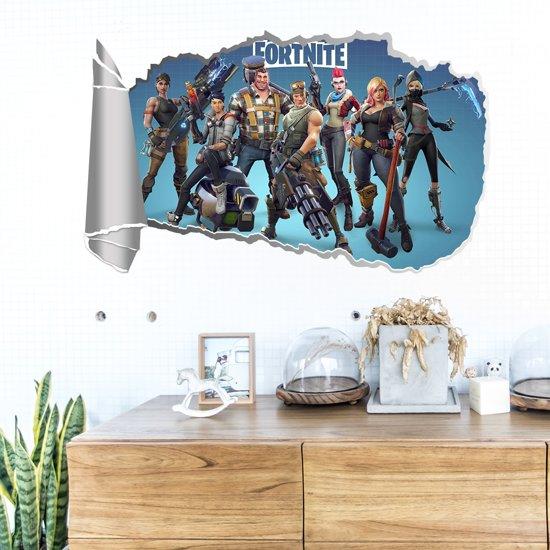 3d fortnite karakters game muursticker poster jongens slaapkamer