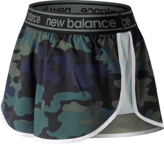 New Balance Printed Accelerate 2.5 Sportshort Dames - Green