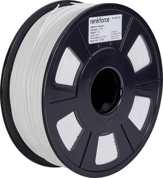Filament Renkforce ABS kunststof 1.75 mm Wit 1 kg