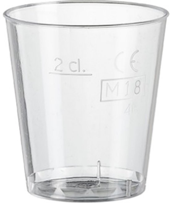 Plastic Shot glazen, Borrelglazen Klein 20cc (PS) - 1.000 stuks