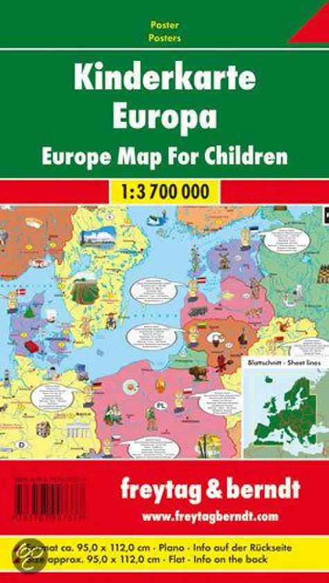 Europa Kinderkarte 1 : 3 700 000. Plano-Karte