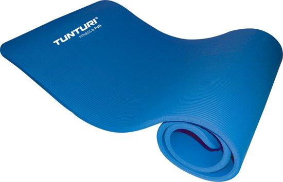 Tunturi - Fitnessmat - Oefenmat - 180 cm x 60 cm x 1,5 cm -  Blauw