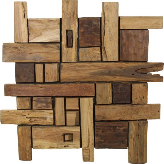 Genoeg bol.com | HSM Collection - houten wanddecoratie 75 cm - naturel GZ44